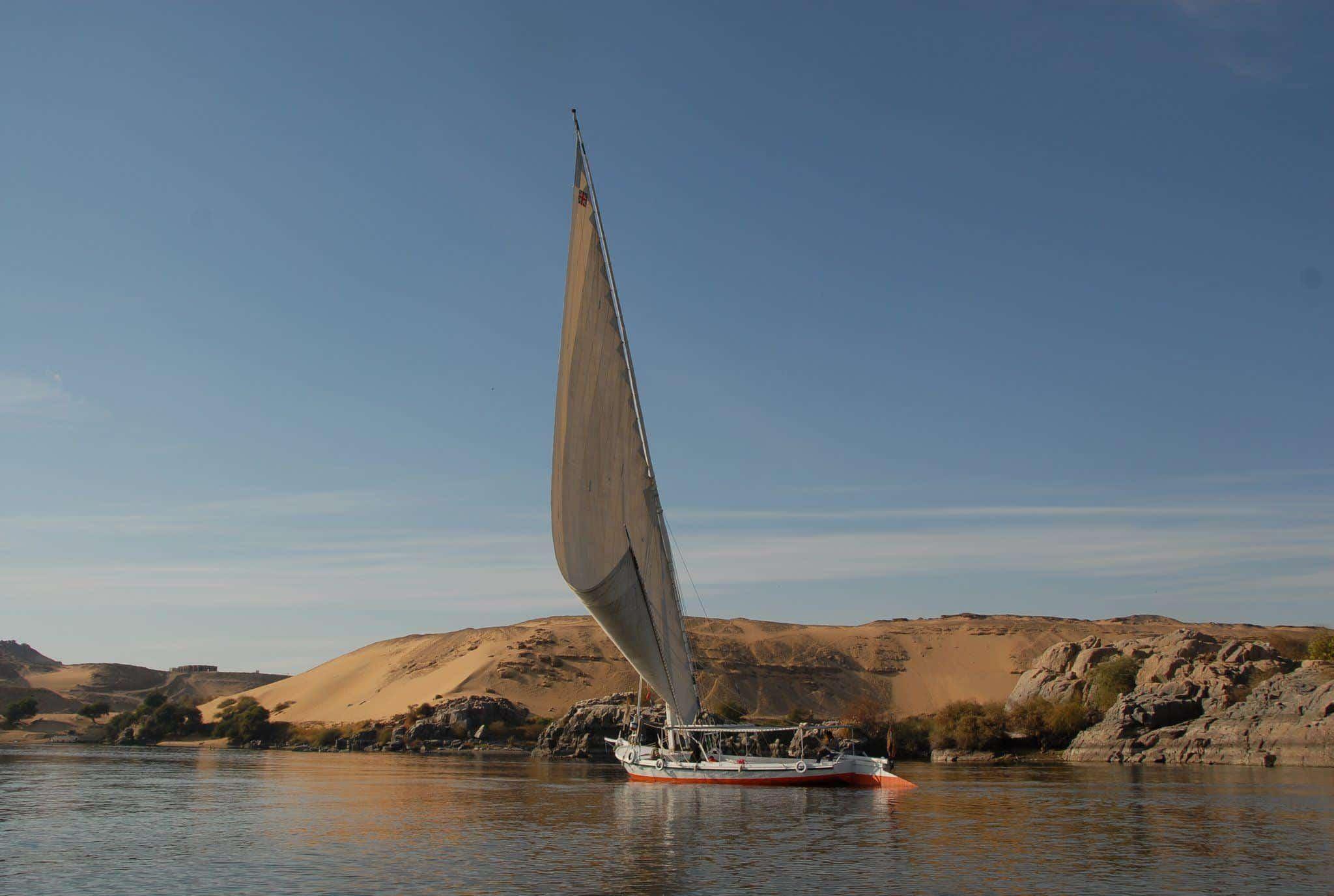 Segeln am Nil in Ägypten